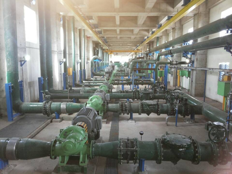 Water supply and drainage for steel plant in Brazil